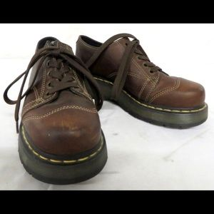 Unisex Dr. Martens Brown Leather Shoes Size 7/8